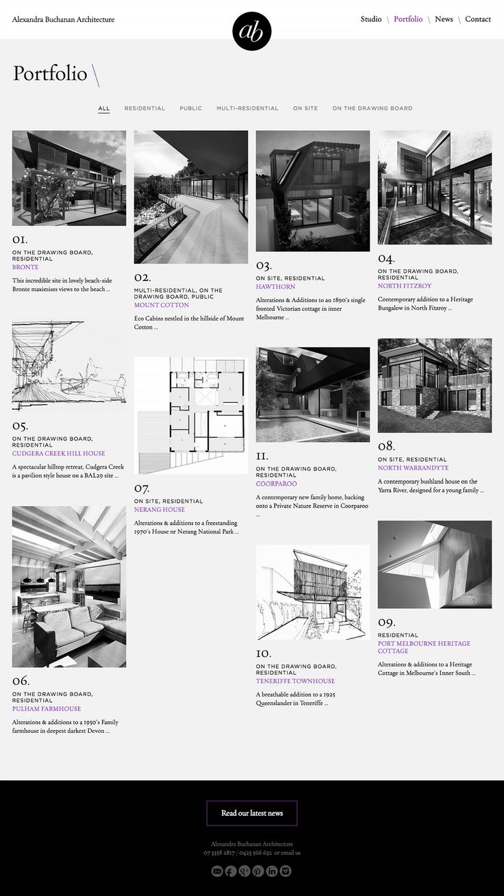 Alexandra Buchanan Architecture Website | Studio Alto