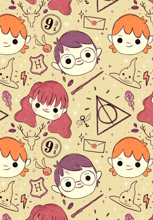 Image result for cute harry potter wallpapers with black background