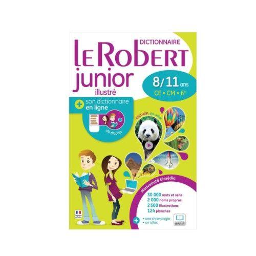 Dictionnaire Robert junior 2016 bimédia pour enfant de 8 ans à 11 ans - Oxybul éveil et jeux
