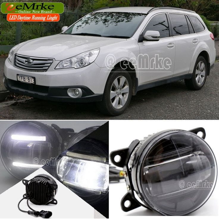 147.98$  Watch now - http://alihqu.worldwells.pw/go.php?t=32657537714 - eeMrke Led DRL For Subaru Outback 2010 2011 2012 2 in 1 LED Fog Lights Lamp With Q5 Lens Daytime Running Lights