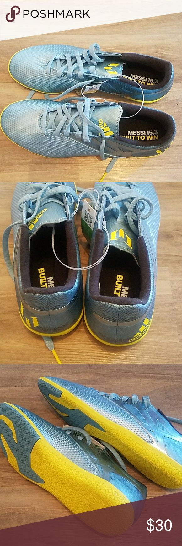 NEW WITH TAGS Lionel Messi Indoor Soccer Shoes S11 Brand new with tags never worn Lionel Messi Indoor Soccer Shoes Size 11. Never been worn - must go!! adidas Shoes Athletic Shoes