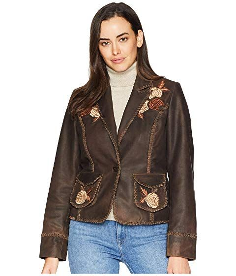 48075754f0593 Scully Connely Embroidered Ladies Leather Jacket