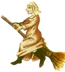 Immagine di strega sulla scopa tratta da: MARTIN LE FRANC, Le champion des dames, 1451