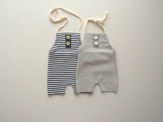 Set di striping neonato nuovo di due cavezza tuta-Newborn Photography Prop-neonato tuta-neonato foto Prop-fotografia puntelli-Baby Abiti