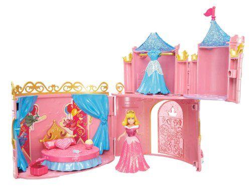 Disney Princesses – W5615 – Poupée et Mini-Poupée – Château Royal Magiclip – Belle au Bois Dormant | Your #1 Source for Toys and Games