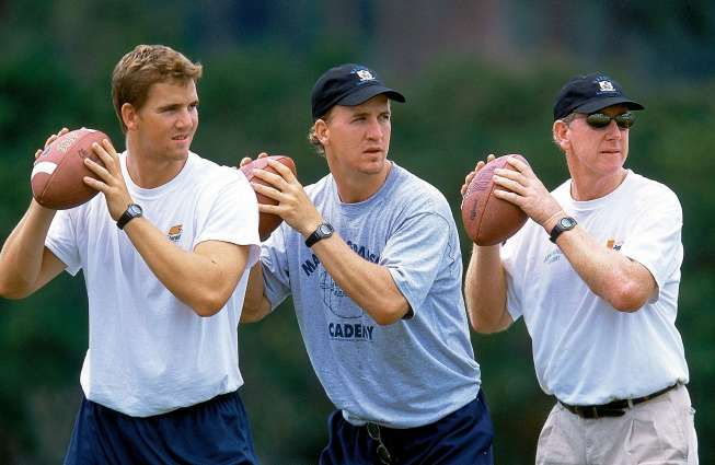 Archie Manning, right, and his sons Eli and Peyton were all major SEC quarterbacks - Great family.  Check out the documentary:  The Book of Manning