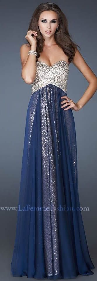 Diyouth New Arrival Empire Floor-length Organze Prom Dresses ORPD-40008 Charming Long Flowing Sequined Bodice evening dresses,blue prom dresses,beading evening dresses 2015,sweetheart party dress,long prom dresses