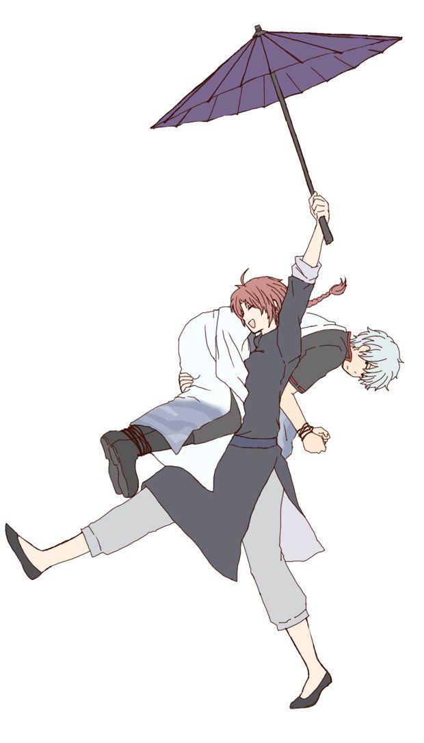 Gintama. Kamui & Gintoki