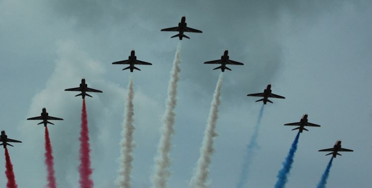 The Red Arrows at Festival Of Speed. It was amazing how close they got! :)