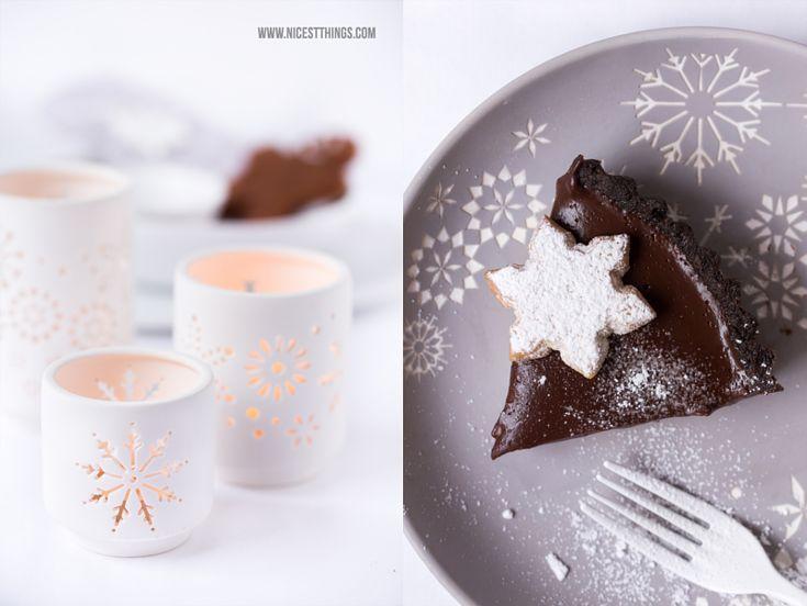Lebkuchen-Zimt-Cheesecake-Tarte   Weihnachts-Tischdeko
