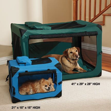 Extra strong, portable dog crate with steel frame for durability