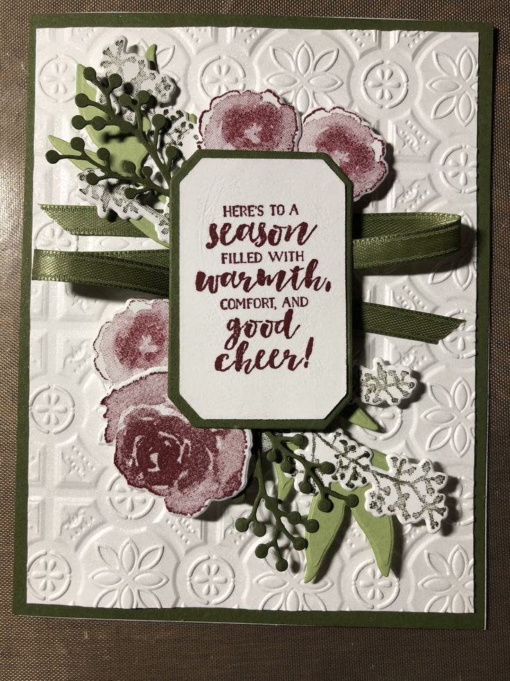 stampin up first frost and tile dynamic