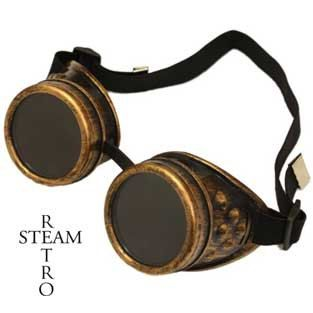 10% off  XMAS15  Steampunk Goggles Glasses AVIATOR cyber gothic lenses welder glasses steampunk accessories