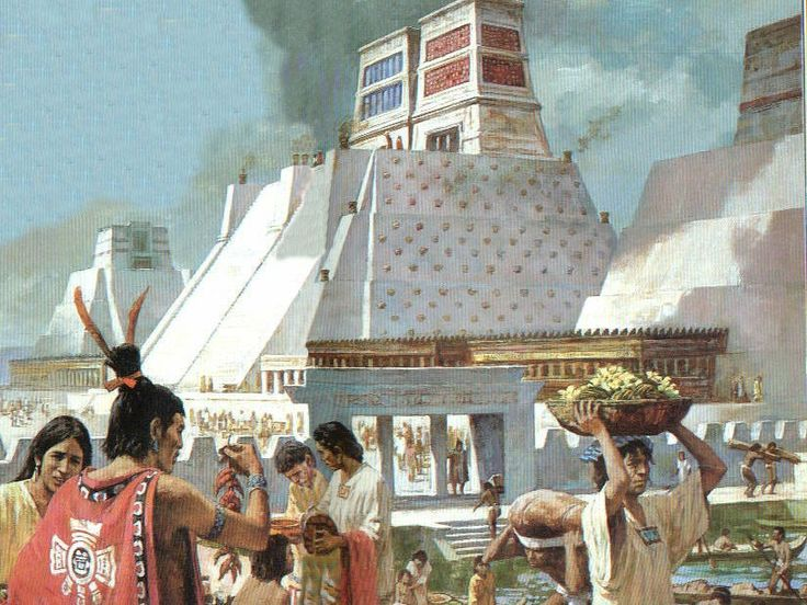 Templo Mayor in Tenochtitlan in 1519.