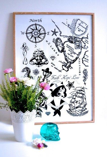 Faith Hope Love. Plansch 50x70 cm. via Sabina Wroblewski Gustrin. Click on the image to see more!
