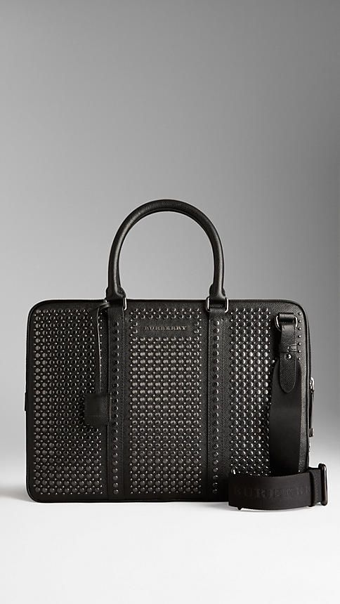 Studded London Leather Briefcase | Burberry