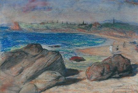 lloyd rees - A beach at Gerringong, NSW. Australia