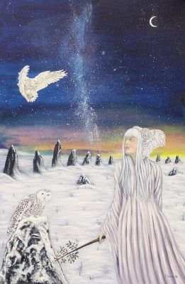 Danu by Elluna Art A3 Size Print.  Ancient Mother of Air.