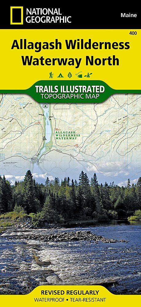 Allagash Wilderness Waterway, North, Maine, Map 400 by