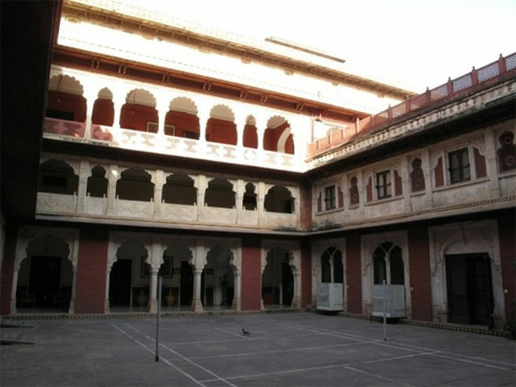 Brij Raj Bhavan Palace (Kota).  The place is believed to be haunted by the ghost of Major Burton, the British Resident of Kota. He, along with his two sons, was killed in the central hall of the building by Indian soldiers.