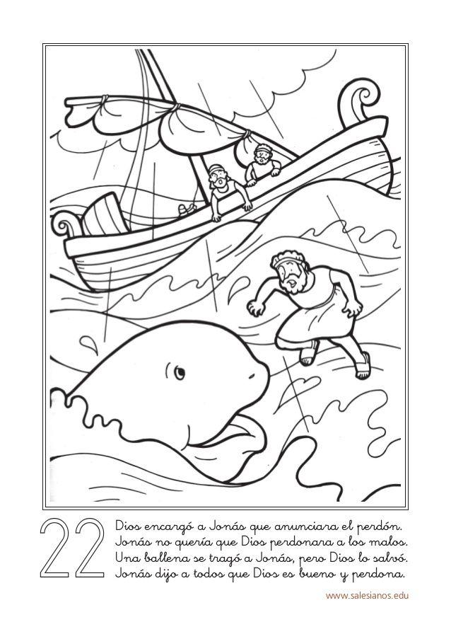 Paginas Para Colorear De Jonas Y La Ballena En 2020 Con Imagenes