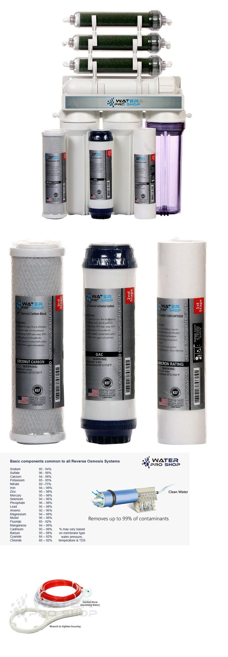 Reverse Osmosis and Deionization 77658: 7 Stage Aquarium Reef/Deionization-Reverse Osmosis (Ro/Di) Water System: 100 Gpd BUY IT NOW ONLY: $129.99