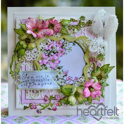 Heartfelt Creations - Framed Dogwood Card Project