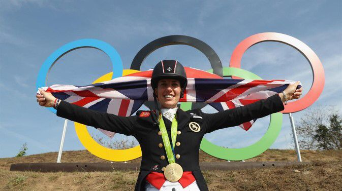Charlotte Dujardin rode Valegro to their second consecutive individual dressage gold medal, repeating their feat of four years ago with a score of 93.857.