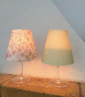 Lampfötter av vinglas av Borgmästaren på Mitt hem är min borg