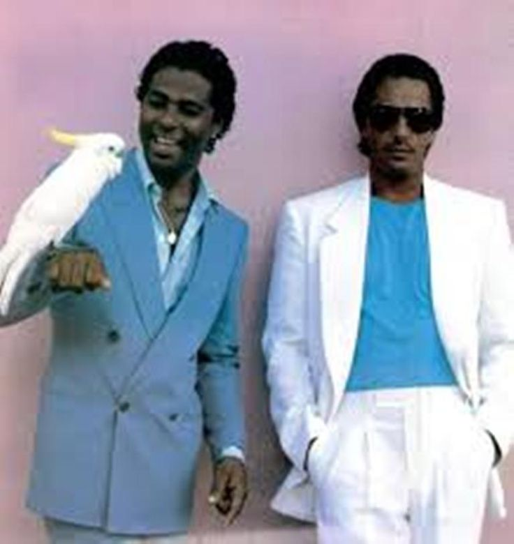 Philip Michael Thomas & Don Johnson  Miami Vice 1980's.