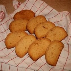 A German, twice-baked cookie with a crisp sugar crust.