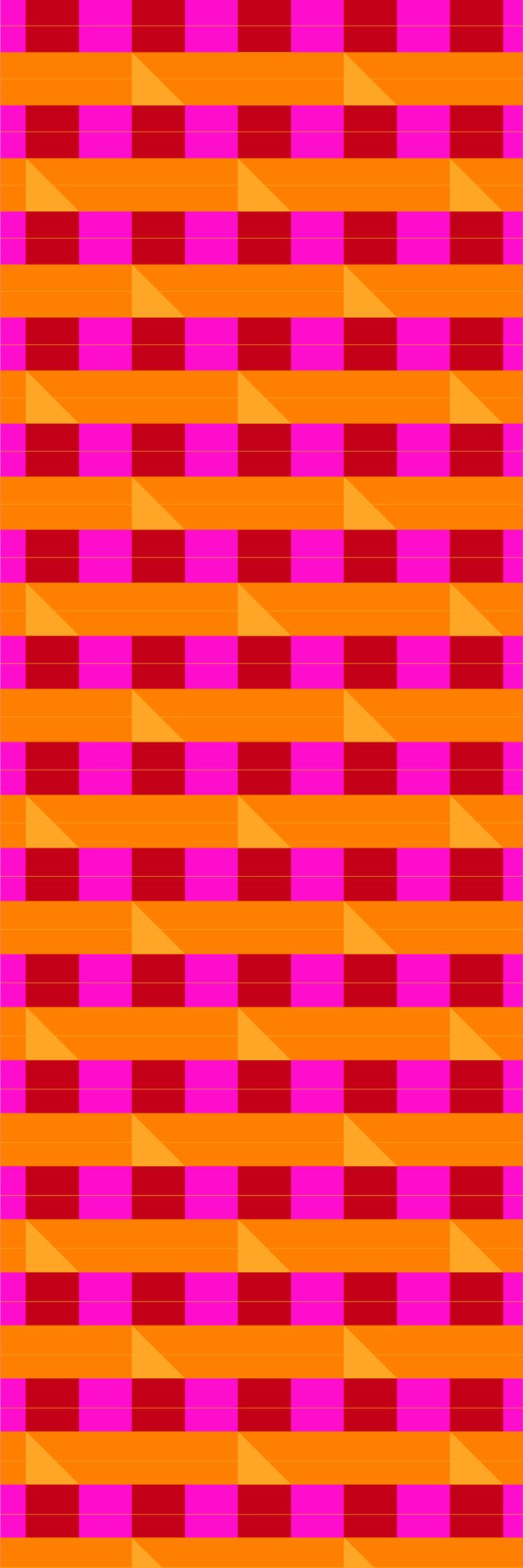Custom printed Tartan wallpaper from the 'HEMA' colour range #tartan #wallpaper #muurgraphics