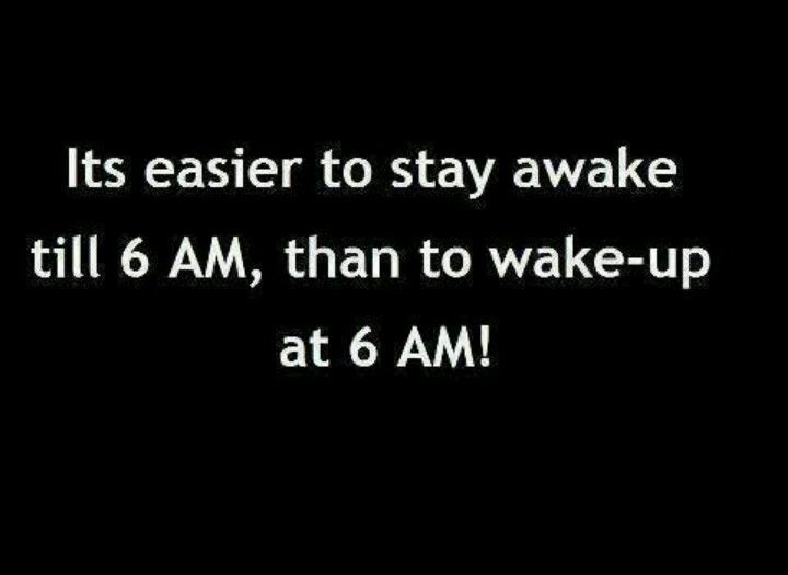 After working both nights and now days, this is unfortunately true. It never gets easier waking up at 6am!