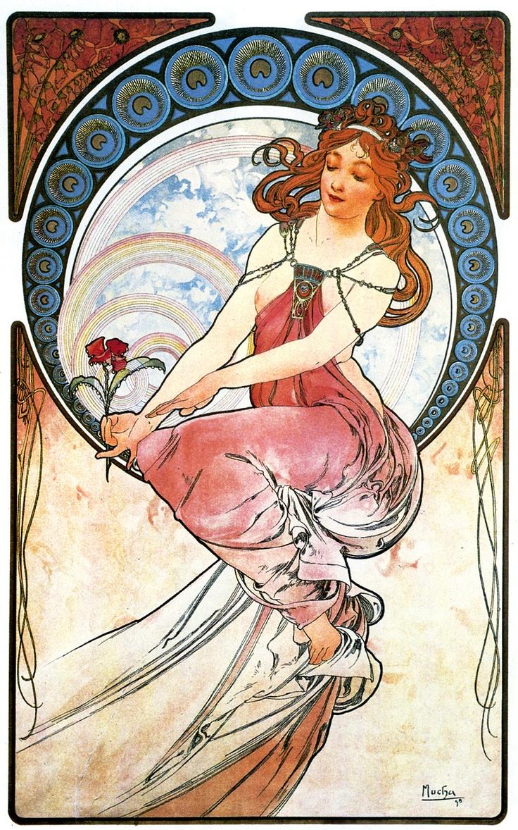 Les arts, 1898 : la peinture.   Art, Fleurs art nouveau et ...