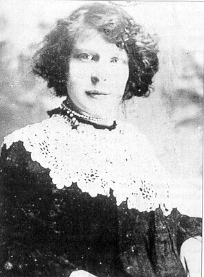 Lily Cove, a daredevil lady parachutist who died in a tragic accident over Haworth Moor in 1906. Her ghost is said to haunt the room in the White Lion Inn, Haworth, where her body was laid out.