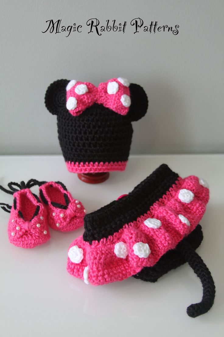132 best crochet baby diaper covers images on pinterest baby crochet minnie mouse hat diaper cover with skirt and shoes pdf pattern newborn bankloansurffo Gallery
