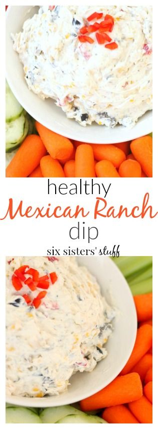 One of my most favorite foods is dip. I love all types of dips. Dessert, vegetable, cracker, cheese, chocolate, you name it, I love to dip. But with the new year, I made a goal to eat more vegetables. This Healthy Mexican Ranch Vegetable Dip makes it easy to get in all my veggies. It tastes amazing, and it's all I want to eat these days!