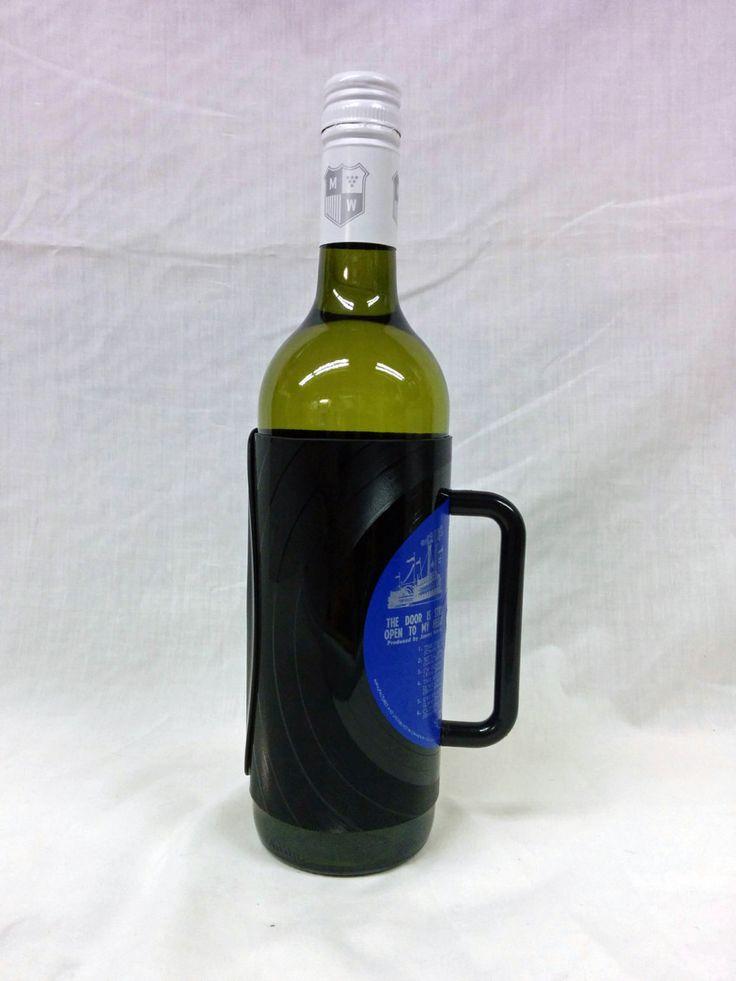 Dean Martin Vinyl Record Wine Bottle Holder by FunkyVinylArt on Etsy