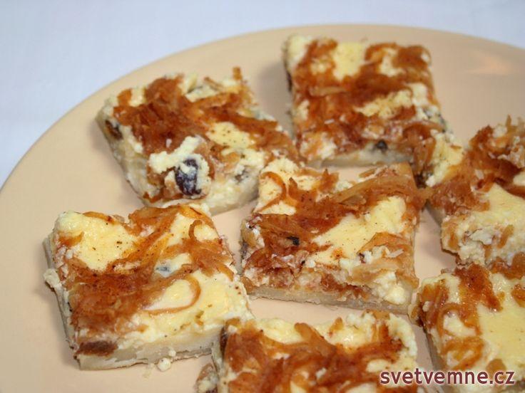 Rychlý tvarohový koláč z listového těsta