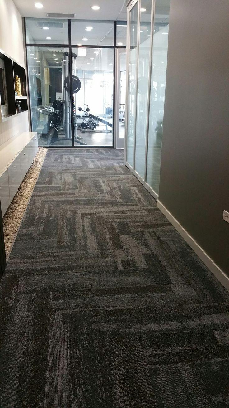 Silver Tower Condo Corridor Interface Carpet Tile Style