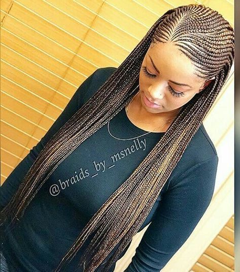 African Hair Braiding  : feedins braids for black women