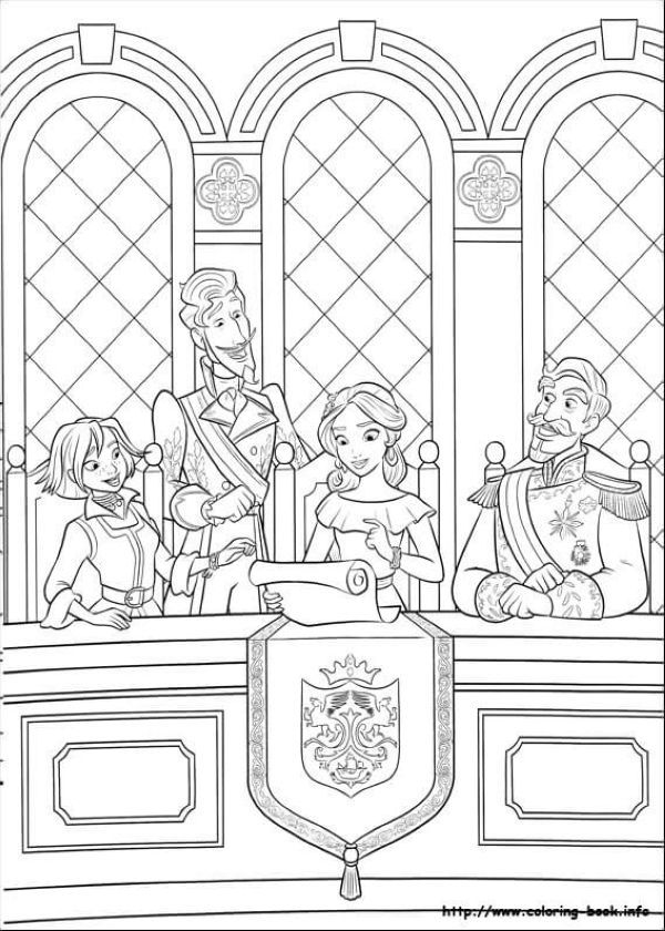 Elena With Francisco Naomi And Esteban Elena Of Avalor Coloring Page Disney Coloring Pages Coloring Pages Coloring Books