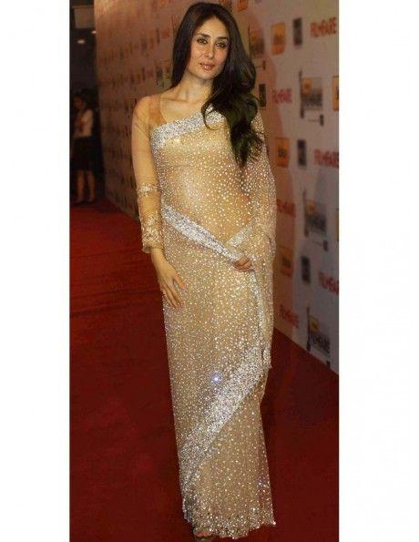 Kareena Kapoor In Golden Saree Item code : SMBW13