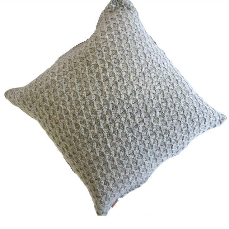Plume Silk Lambswool Collection - Grey Knit Cushion #bedroomdecor #modernbedroom bed linen, pillows, throws | Shop at http://plumesilk.com/decoration/15-grey-knit-cushion.html