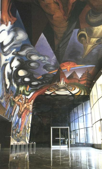 For the Complete Safety of all Mexicans on Work, 1952-1954			David Alfaro Siqueiros - by style - Muralism