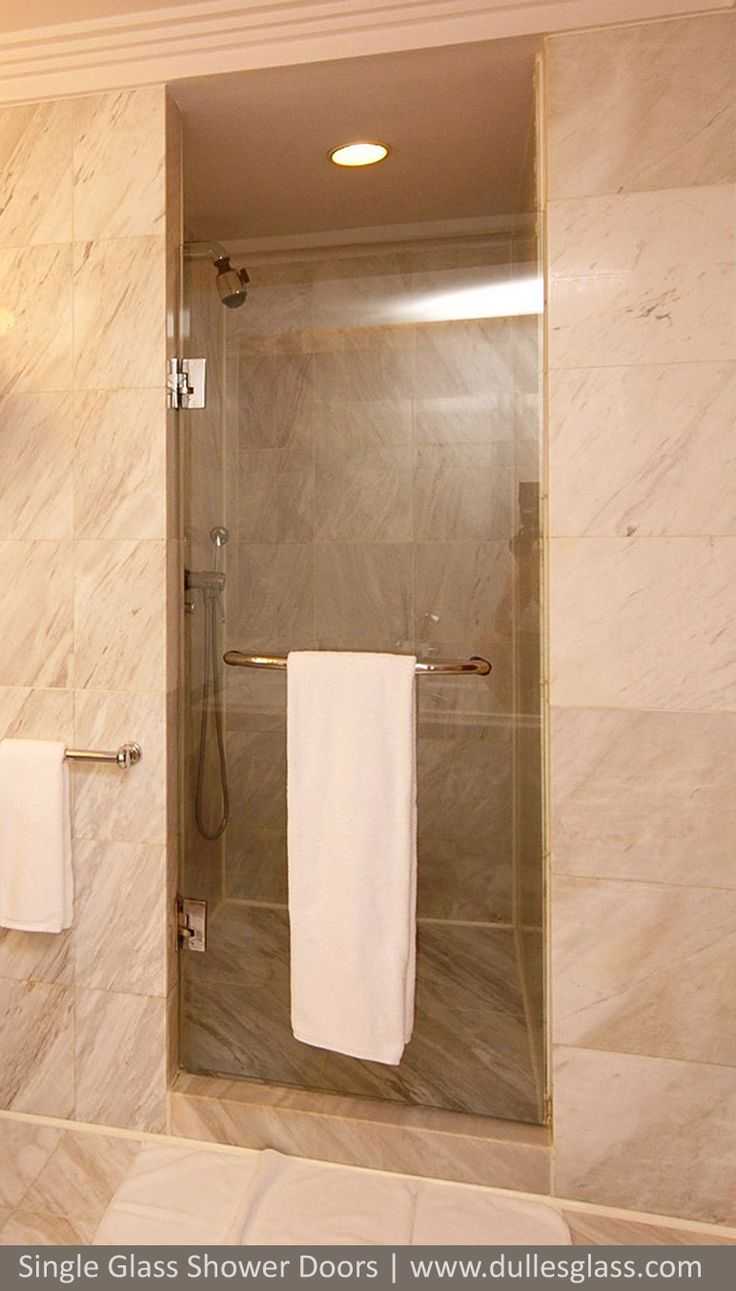 This Single Shower Door Features A Towel Bar Combination Handle For Convenient Place