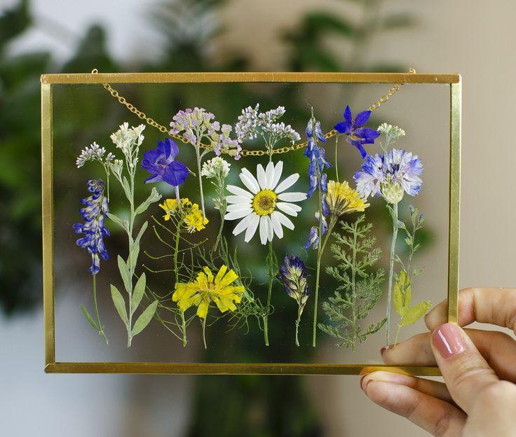 Framed pressed flowers pressed flower frame art floating
