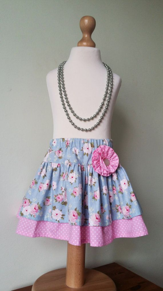 Check out this item in my Etsy shop https://www.etsy.com/uk/listing/274386504/girls-floral-skirt-twirl-skirt-ready-to