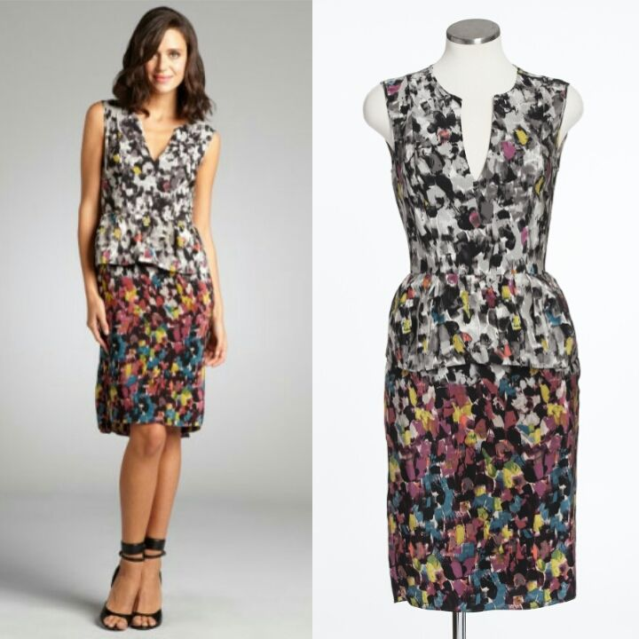 The BCBG Amalia dress has beautiful cut and print. Size 4. $80.00 http://www.closetcollabo.ca/product/bcbg-amalia-dress/ #bcbg #dress #print