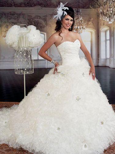 15 dresses white puffy